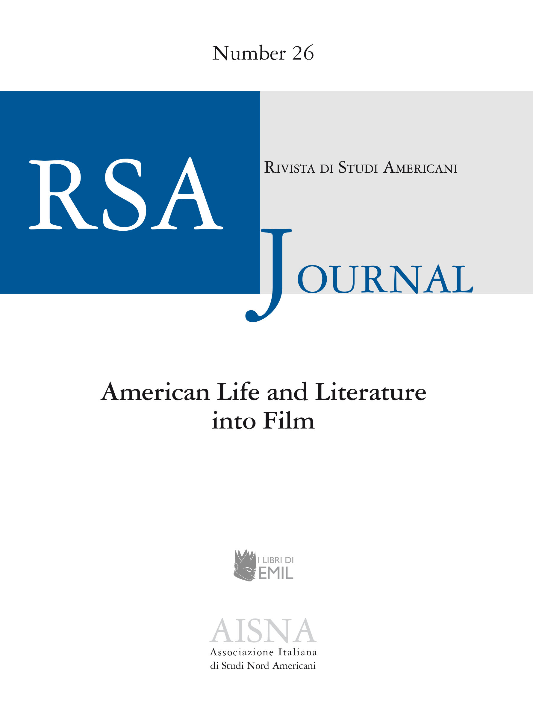 RSA Journal - Rivista Studi Americani, 26